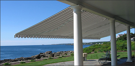 Our Retractable Deck And Patio Awnings Are Engineered To Withstand Greater Upward Or Downward Force From Unexpected Inclement Weather Than Other Fabric