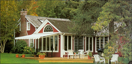 A SunScape® Retractable Patio And Deck Awning Provides Sun Protection And  Beauty Without The Seasonal Maintenance Or Unsightly Awning Framework Like  That Of ...